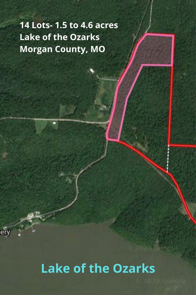 14 Lots- 1.5 to 4.6 acres Lake of the Ozarks Morgan County, MO