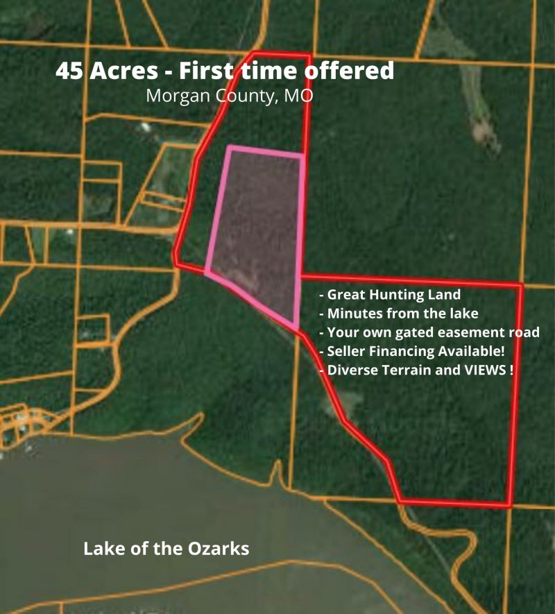 USE THIS PICTURE FIRST- 45 acres- MOMO- Lake of the Ozarks